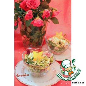 """Рецепт: Салат с форелью """"Праздник вкуса"""""""