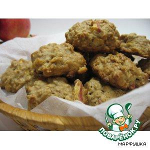 Рецепт: Овсяное печенье с яблоками