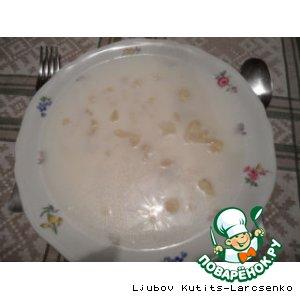 Рецепт: Венгерский молочный суп с чипетками и цветной капустой