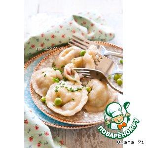Рецепт: Пельмени с кальмарами