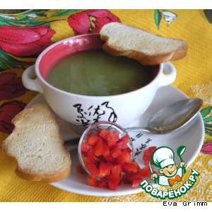 Рецепт: Суп-пюре из брокколи и кукурузы