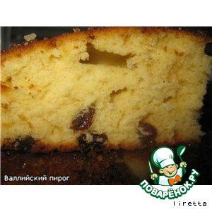 Рецепт: Валлийский сливочный пирог
