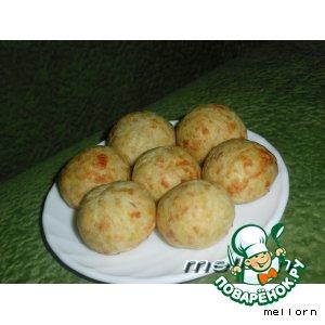 Рецепт: Сырные шарики с ветчиной
