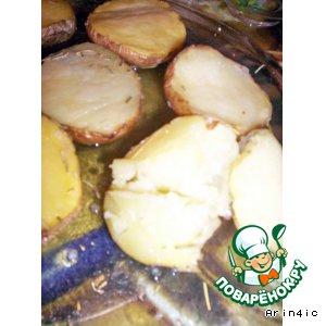 Рецепт: Картофель, запеченный в СВЧ