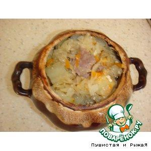 Рецепт: Свинина с овощами в горшочке