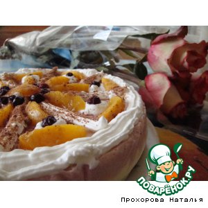 Торт Персик в йогурте и мороженом