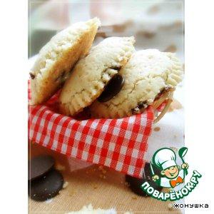 Рецепт Мягкое печенье с шоколадом и орехами