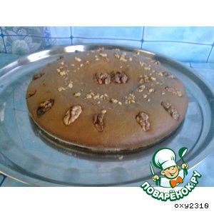 Рецепт: Шоколадно-ореховый пирог на сыворотке