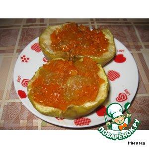 Рецепт: Запеченные яблоки с тыквой