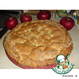 Рецепт: Пирог из творожного теста с яблоками