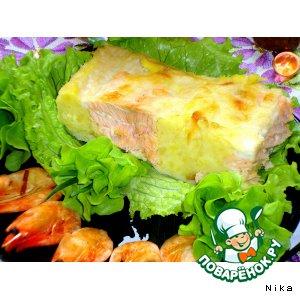 Рецепт: Лосось   в   картофельном   пюре