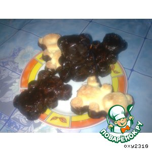 Рецепт: Бисквитное печенье Барни по-домашнему