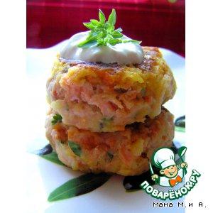 Рецепт: Рыбные биточки с овощами