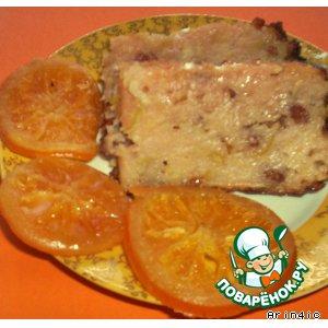 Рецепт: Яблочный пудинг на киселе