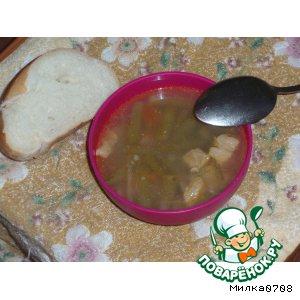 Рецепт: Супчик с зеленой фасолью