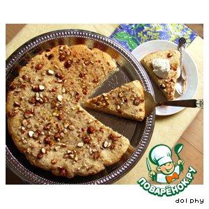 Рецепт: Влажный пирог с манкой и апельсином