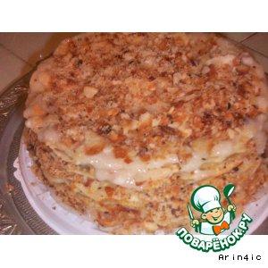 Рецепт: Торт слоеный постный а-ля Наполеон