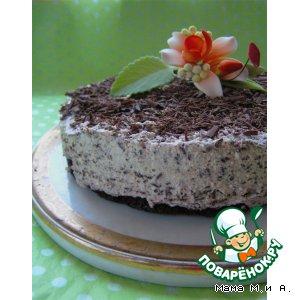 Творожный торт с шоколадной крошкой