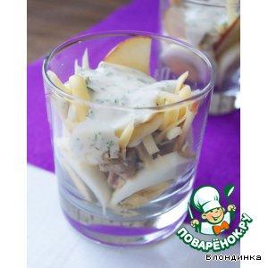 "Рецепт: Салат ""Дипломат"" с лососем"