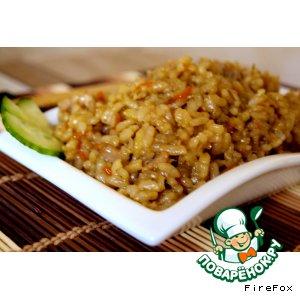 Рецепт: Жареный рис Яки Меши с курицей