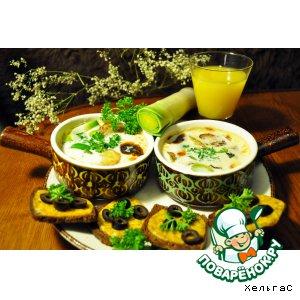 Рецепт: Молочный суп с луком-пореем и цукини