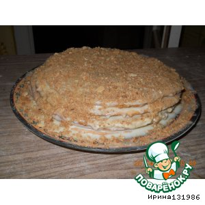 """Рецепт: Торт """"А-ля Наполеон"""""""