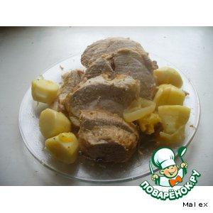 Рецепт: Свинина с апельсинами