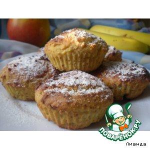 Рецепт: Творожно-кукурузные кексы с фруктами