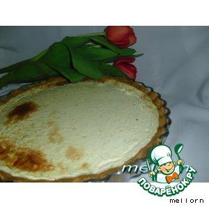 Рецепт: Сырный киш с творогом и укропом