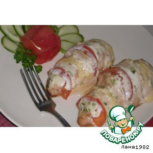 Рецепт: Куриное филе «Зебра»