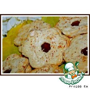 Рецепт: Миндальное печенье с джемом