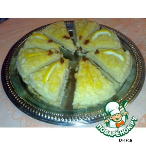 Рецепт: Фруктовый экспресс-пирог