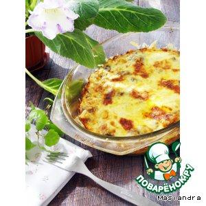 Рецепт: Сморчки в сметане под сырной шубой