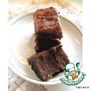 Рецепт: Нежный шоколадный торт без муки