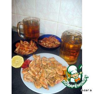 Рецепт: Креветки к пиву