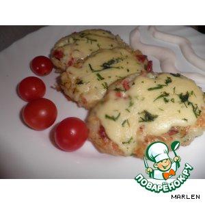 Рецепт: Рисовые оладьи с сыром