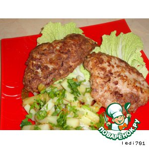 Рецепт: Куриные грудки в ореховом кляре
