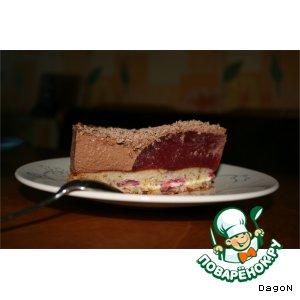 Рецепт: Шоколадный торт  с малиновым желе