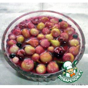 Лук в вишневом маринаде