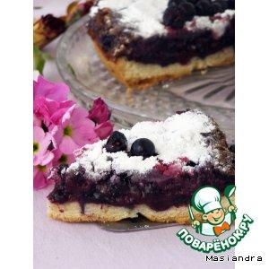Рецепт: Швабский пирог с черной смородиной