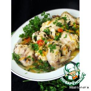 Рецепт: Курица с овощной подливой в мультиварке