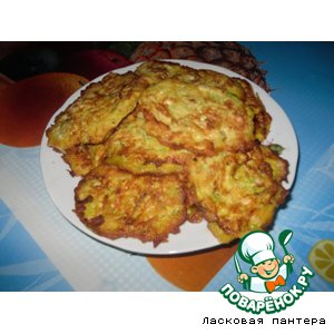 Рецепт Блинчики с кабачком и картофелем