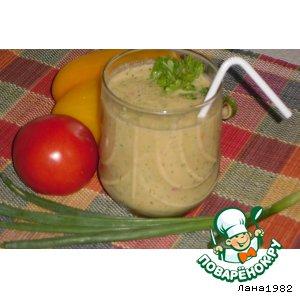 Рецепт: Смузи огуречно-томатный с зеленью