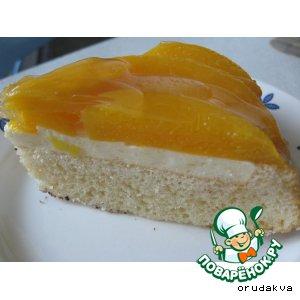 Рецепт: Лeгкий фруктовый тортик