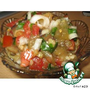 Рецепт: Закуска-салат с баклажанами