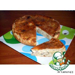 Рецепт: Пирог с курицей, грибами и сыром