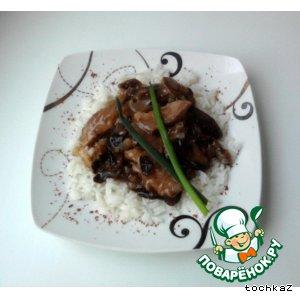 Рецепт Говядина в соусе с черносливом