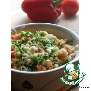 Рецепт: Теплый салат из киноа и булгура