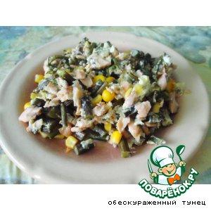 Рецепт: Теплый салат с папоротником
