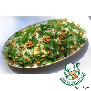 Рецепт: Салат с раковыми шейками